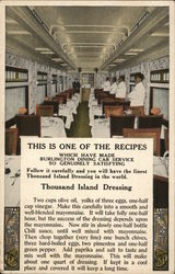 Burlington Dining Car Service - Recipe, Thousand Island Dressing