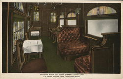 Rock Island Lines - Limited Trains, Smoking Room in Lounge-Observation-Club
