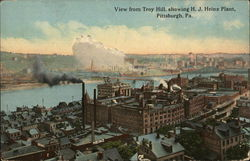View from Troy Hill showing H. J. Heinz Plant