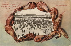 Crowds on the Beach Postcard