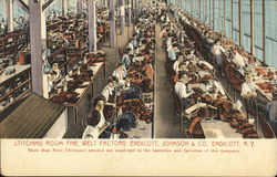 Endicott, Johnson & Co. - Stitching Room, Fine Welt Factory