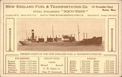 "New England Fuel & Transportation Co. Steel Steamship ""Newton"""