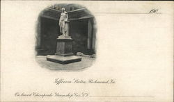 Jefferson Statue Postcard
