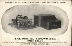 Souvenir of the Danbury Fair, October, 1905 - The Postal Typewriter