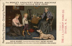 New Home Sewing Machines - Sold by the J. E. Lothrop Piano Co.