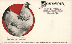 Pratts Poultry Food - Souvenir from Chas. F. Folkman