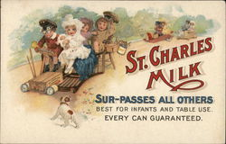 Children On Carts Deliver St. Charles Milk