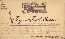 Thymo Tooth Paste, The Thymo Chemical & Mfg. Co.