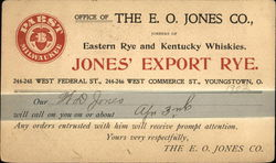The E. O. Jones Co. - Jones' Export Rye Pabst