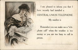 "Central Union Telephone ""My Number Is"""