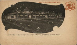 Night View of Exposition Building, State Fair of Texas