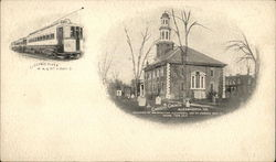 Christ's Church and Electric Flyer - Washington, Alexandria and Mt. Vernon Railway