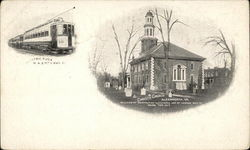 Christ's Church and Electric Flyer, Washington, Alexandria and Mt. Vernon Railway