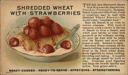 Shredded Wheat With Strawberries, The Shredded Wheat Company Postcard