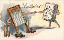 Deelighted! Swift's Pride Soap Shaking Hands with Washboard