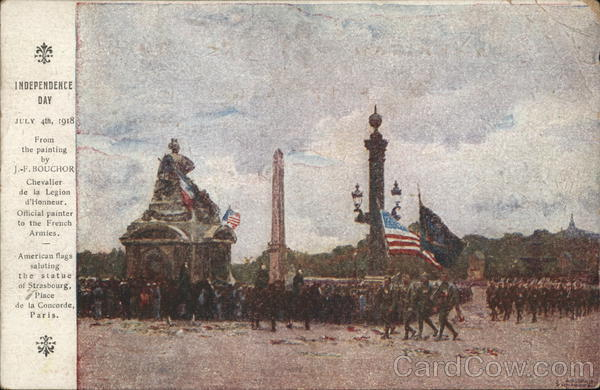 Independence Day July 4th 1918 Paris France