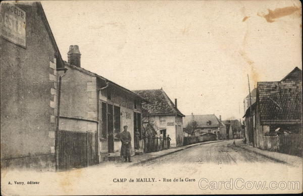 Rue de la Gare Camp de Mailly France