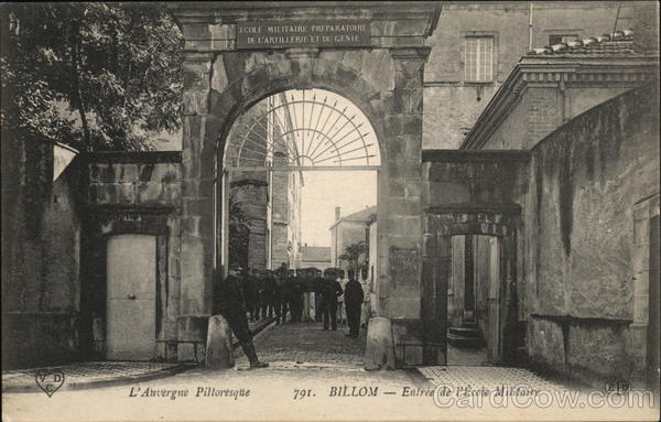 Entrance to Miltary School Billom France