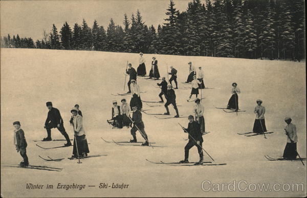 Winter im Erzgebirge - Ski-Laufer Germany