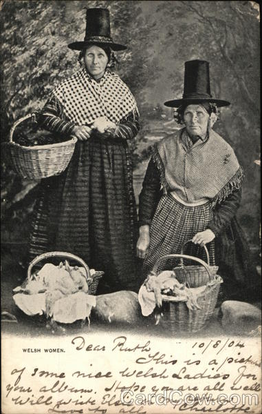 Welsh Women in Traditional Costume