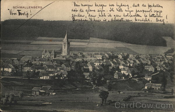 View of Town Schmallenberg Germany