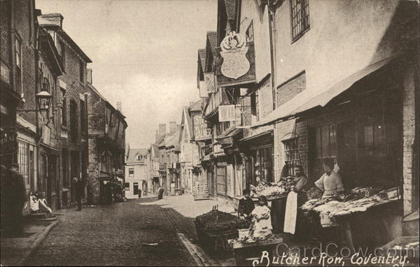 Butcher Row Coventry England Warwickshire