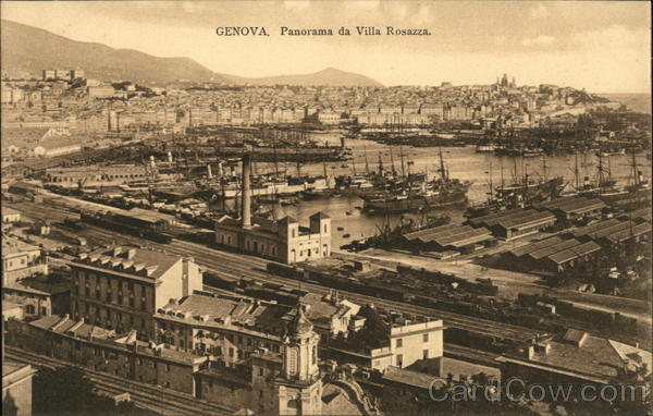 View from Villa Rosazza Genoa Italy