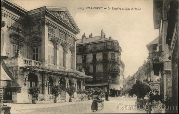 Le Theatre et Rue d'Italie Chambery Italy