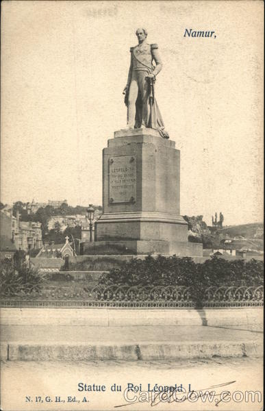 Statue of King Leopold I Namur Belgium Benelux Countries