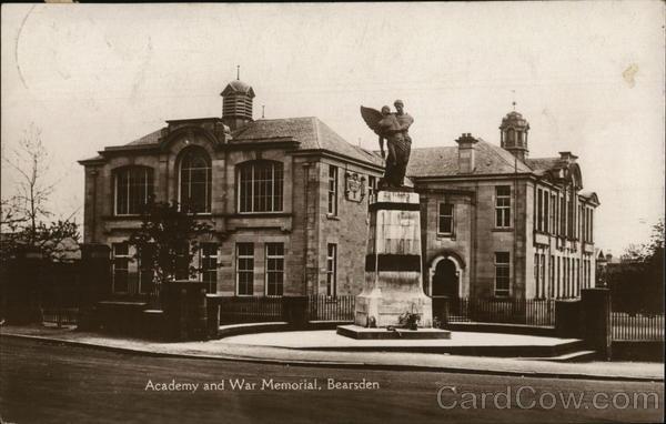 Academy and War Memorial Bearsden Scotland