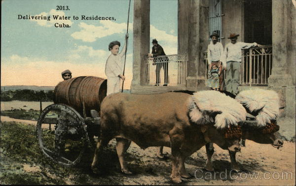 Delivering Water to Residences Cuba
