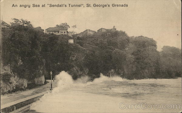 Angry Sea at Sendall's Tunnel St. George's Grenada