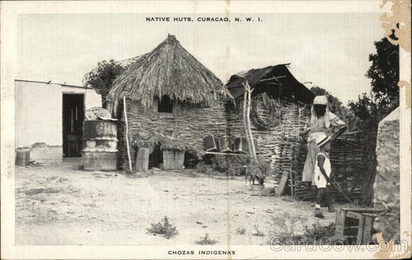 Native Huts, Curacao, N.W.I Curaçao Caribbean Islands