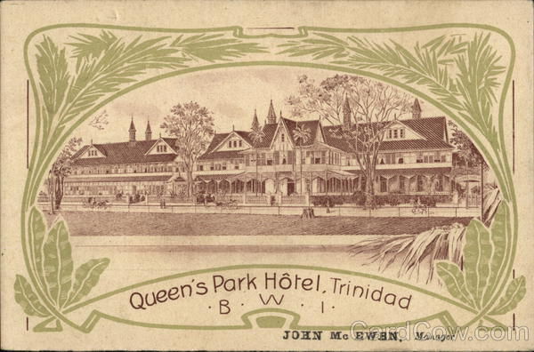 Queen's Park Hotel Port of Spain Trinidad Caribbean Islands