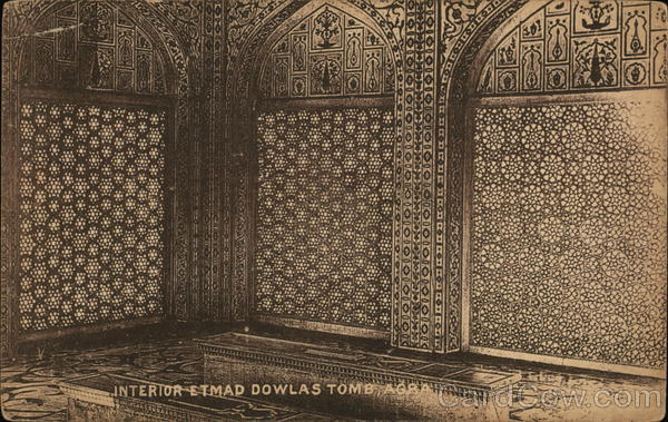 Interior Etmad Dowlas Tomb, Agra India