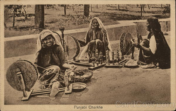Punjabi Charkhe (Hand Spinners) India Lai Chand & Sons