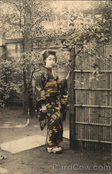 A Japanese lady in a Kimono