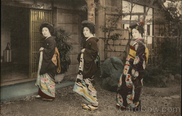 Japanese women in traditional attire Asian