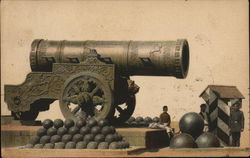 Giant Cannon with Cannonballs Postcard