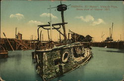 "Habana El ""maine"" Vista de Popa, Stern view of ""Maine"" 1911"