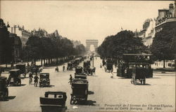 Avenue des Champs-Elysees and Arc de Triomphe