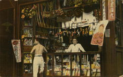 Chinese shop with souvenirs Postcard