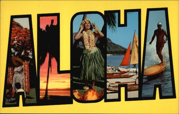 Aloha From Hawaii Large Letter