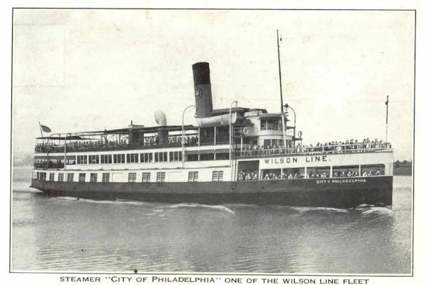 Steamer One Of The Wilson Line Fleet Philadelphia Pennsylvania