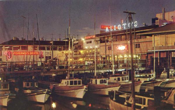 Fisherman's Wharf at Night San Francisco California