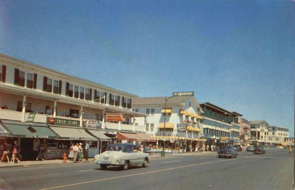 Business Section And Ocean Front Hotels Hampton Beach New Hampshire