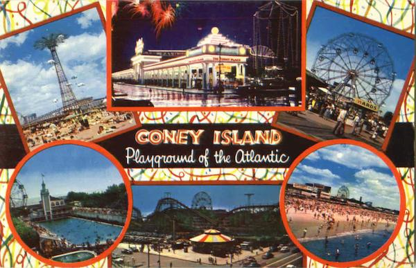 Coney Island Multi View New York Amusement Parks