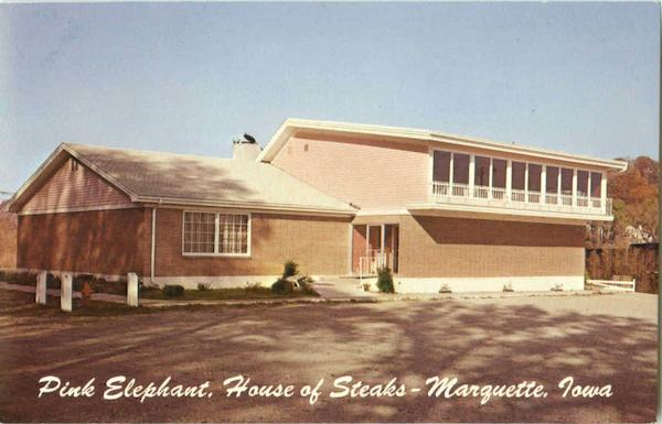 Pink Elephant House Of Steaks Marquette Iowa