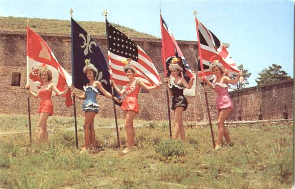 Five Flags Which Have Flown Over Pensacola Florida