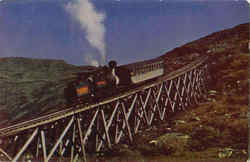 The Famous Cog Railway, Mt. Washington